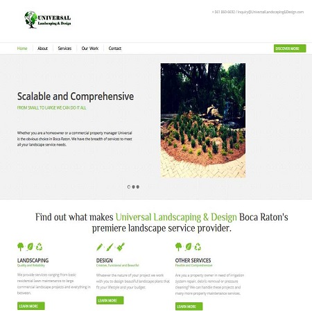 Universal Landscaping and Design -- New Company Website